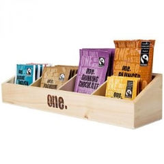 FOUR COMPARTMENT BEVERAGE DISPLAY TRAY FOR FAIR TRADE