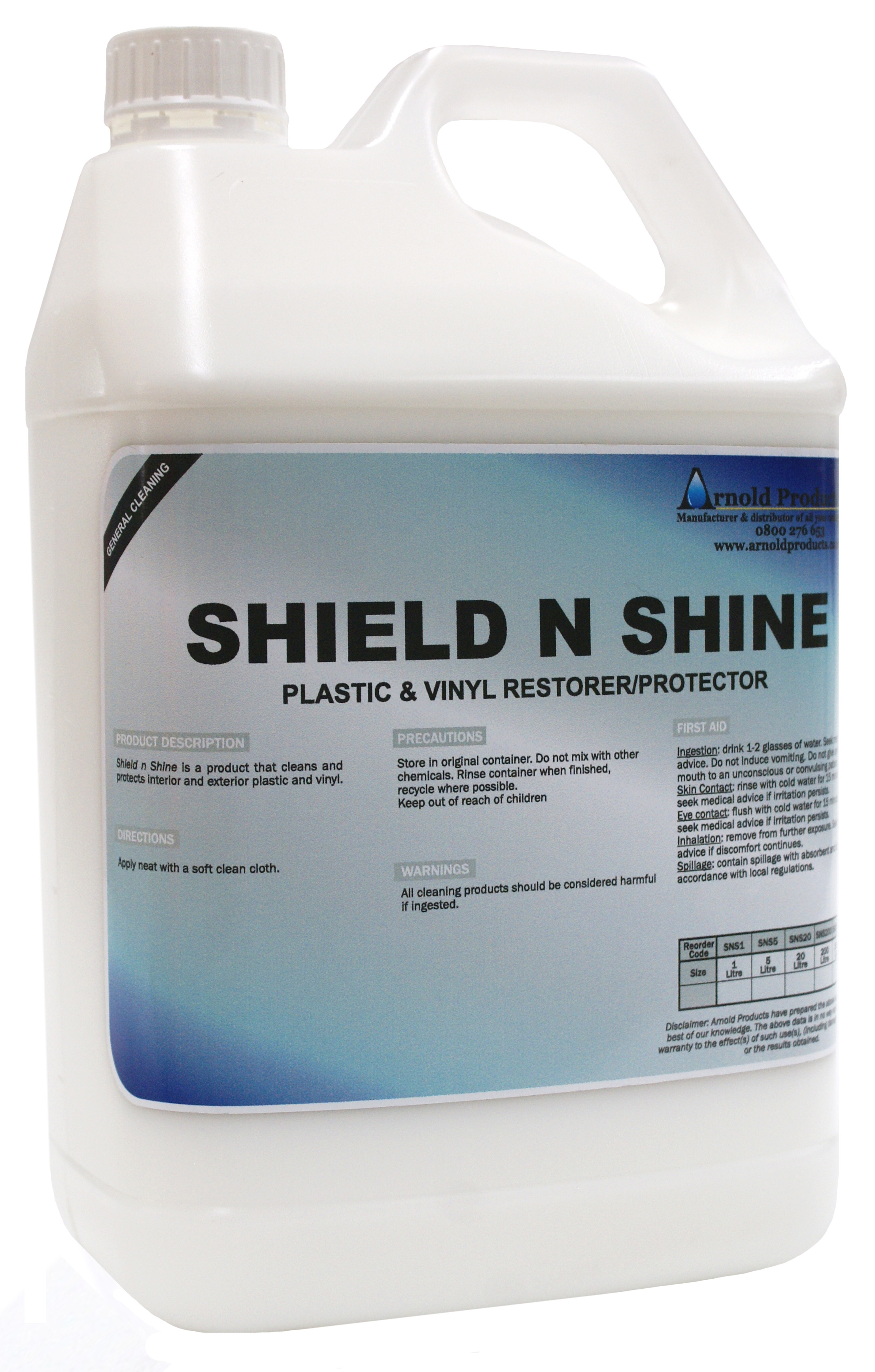 5l Shield N Shine Reviver For Plastics And Vinyl Arnold