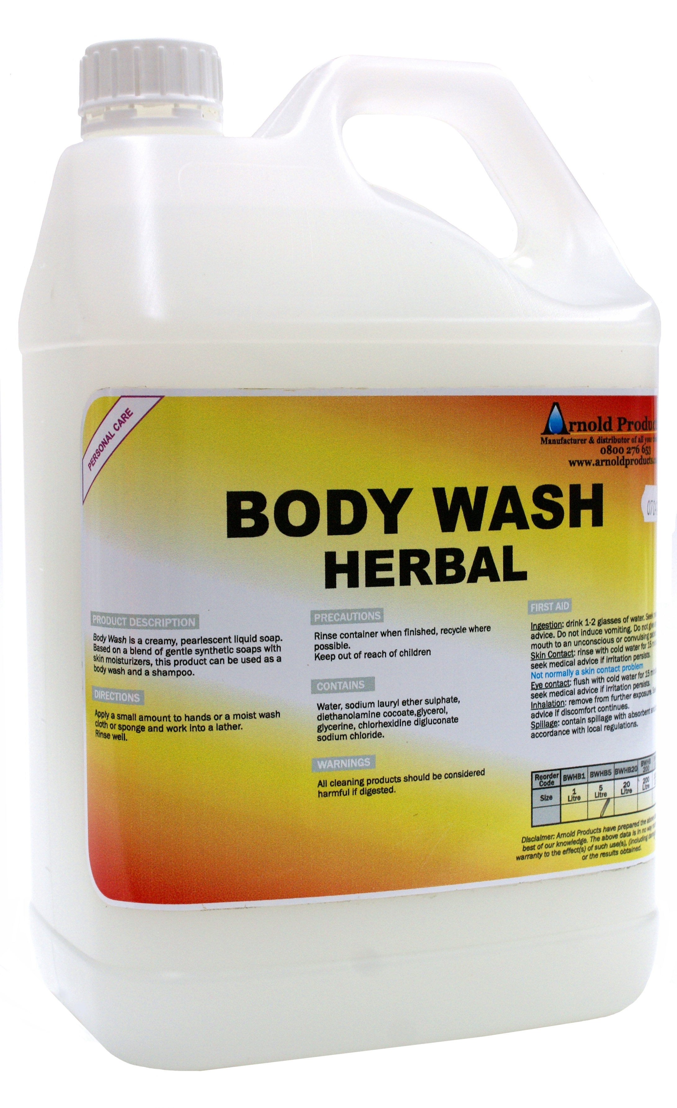 5l Bodywash Herbal Arnold Products Limited