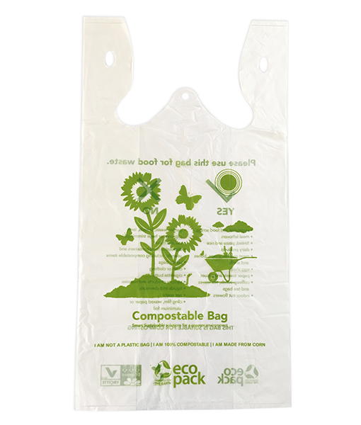 CTN 1000 X 10L COMPOSTABLE ECO SINGLET BAGS (LARGE)