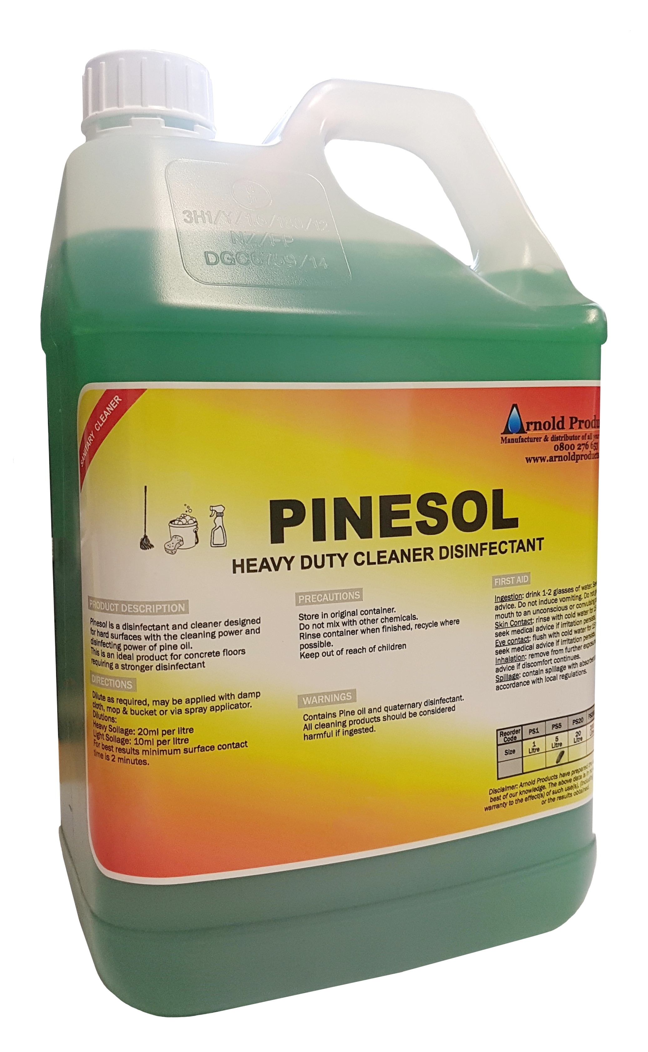 5l Pinesol Heavy Duty Pine Oil Disinfectant Arnold