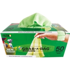 GRAB-A-RAG MICROFIBRE CLEANING CLOTH GREEN