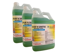 3 X 5L SPRAY N SANITISE MULTI SURFACE CLEANER